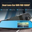 Anti-Accident DuaL-Lens Rearview Mirror Car Recorder